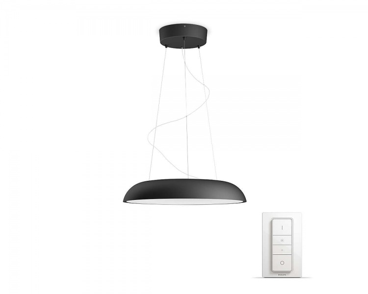 Philips Hue Amaze pendlet lampe white ambiance Sort fra